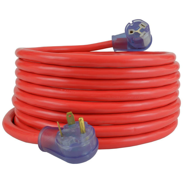 TT-30 RV/Generator Extension Cords(Red)