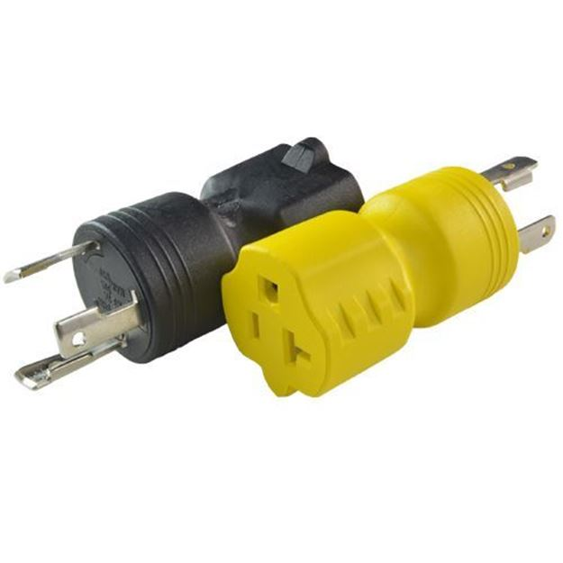 Picture of L5-30P to 5-15/20R Plug Adapters