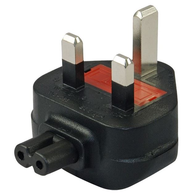 Picture of UK BS1363 to C7 Plug Adapter
