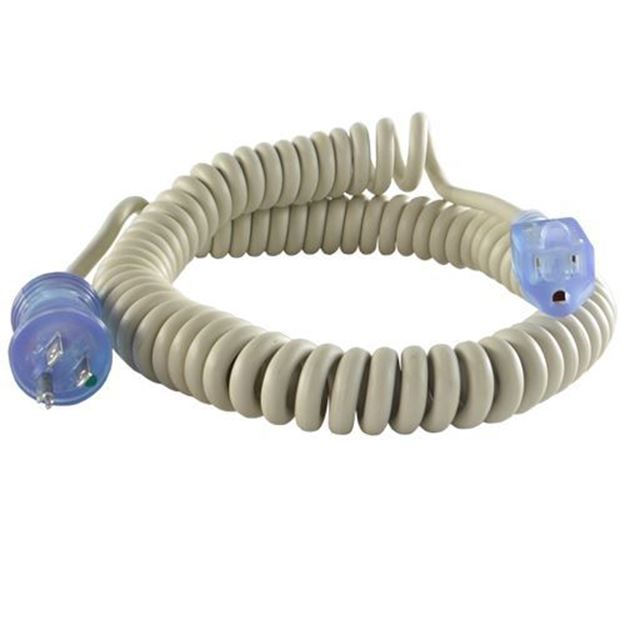 Picture of 5-15 Hospital Coiled Extension Cord