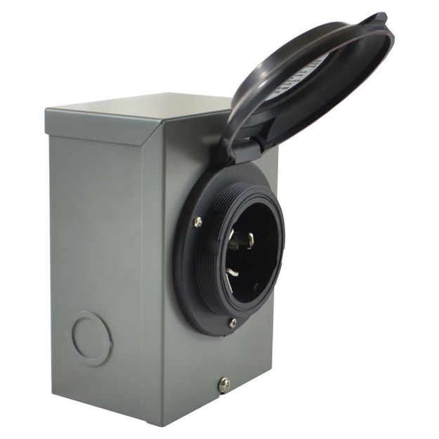 Picture of (Black) 50 Amp CS6365 / SS2-50 Power Inlet Boxes