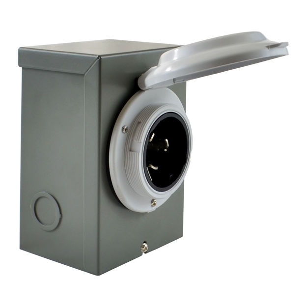 Picture of (White) 50 Amp CS6365 / SS2-50 Power Inlet Boxes