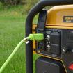 NEMA 5-15P plugged into a generator
